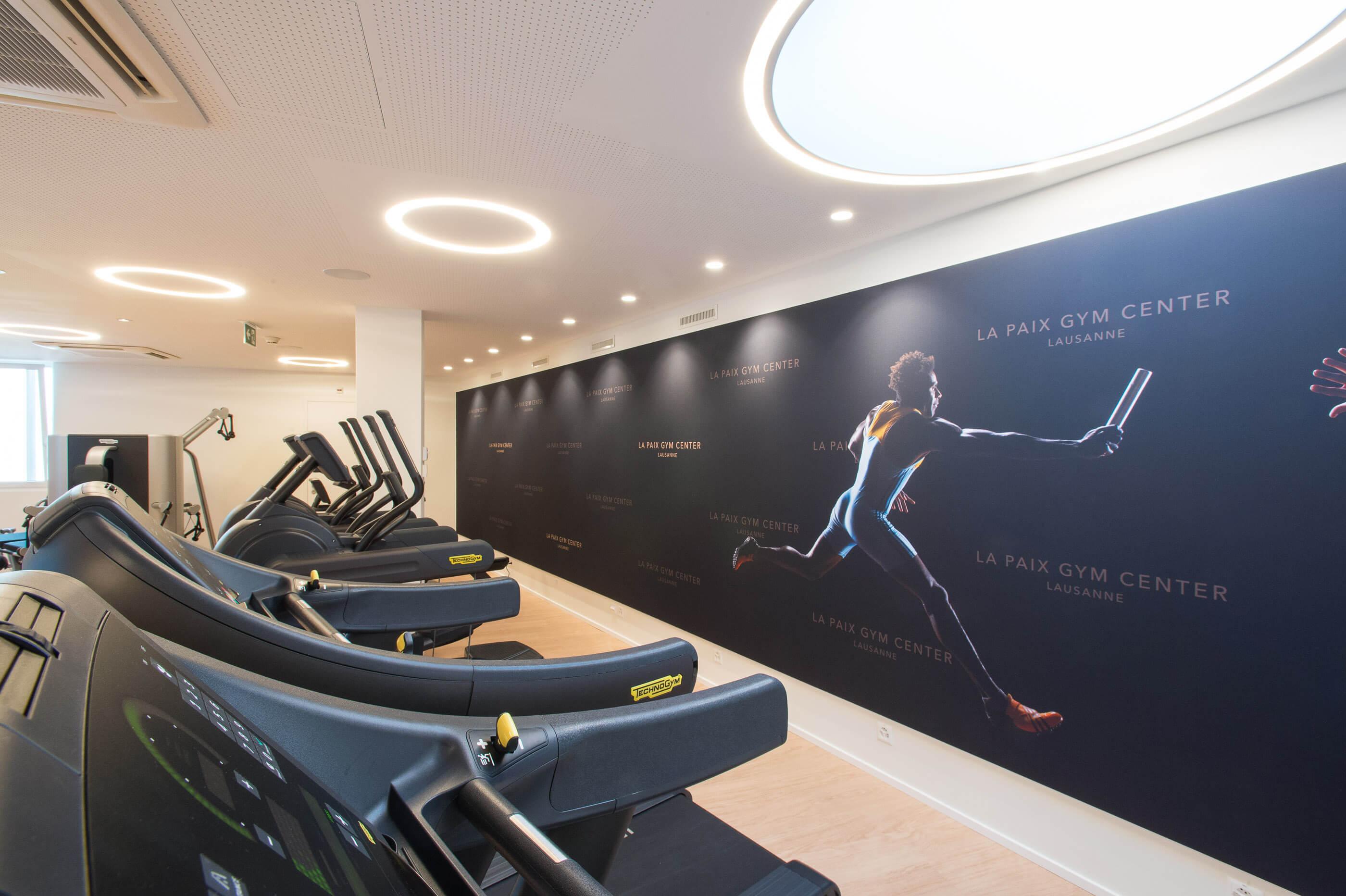 Gym Center à Lausanne à l'Hôtel de la Paix au centre de Lausanne