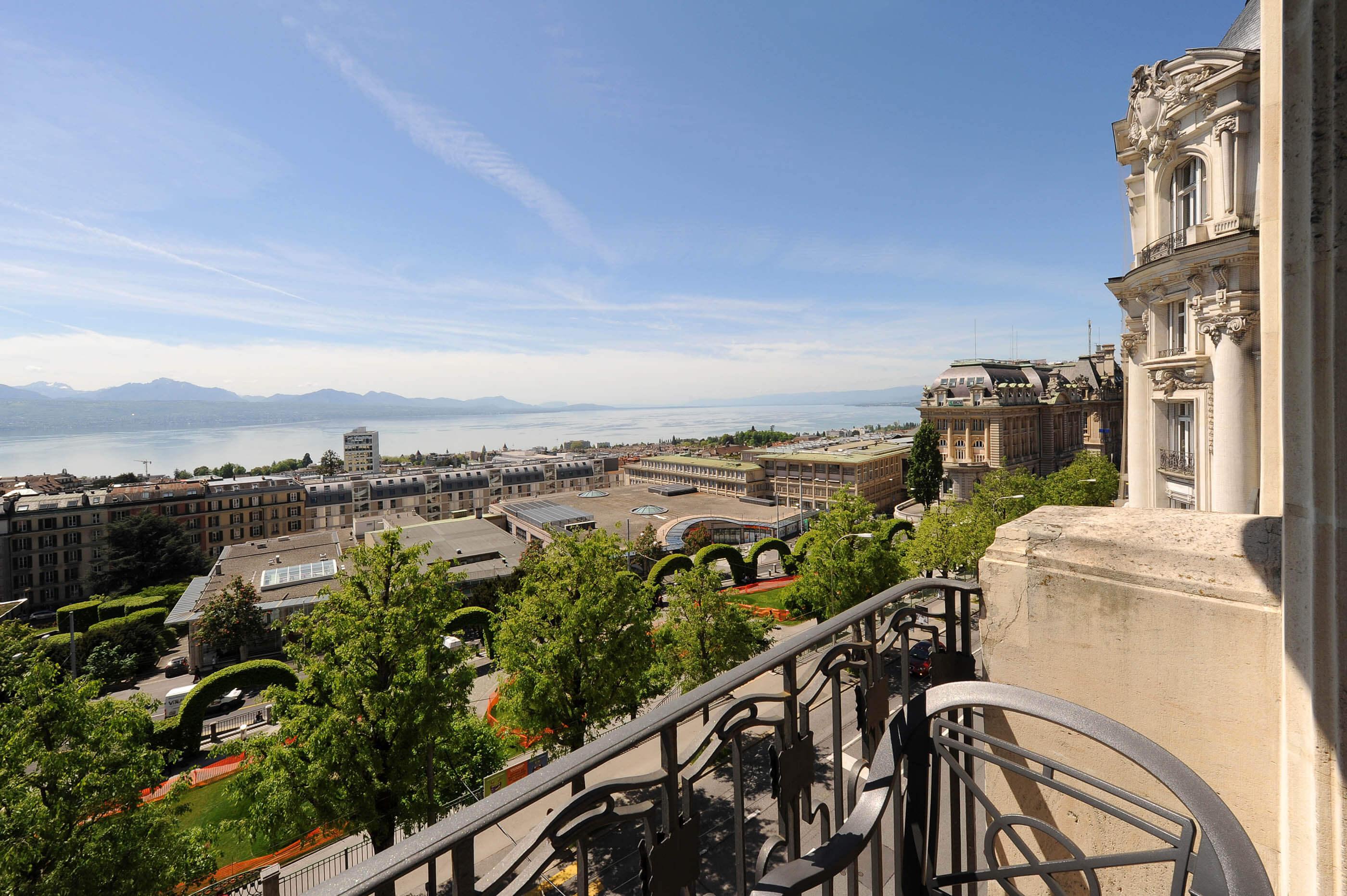 Vue sur le Lac Léman à l'Hôtel de la Paix Hôtel 4 étoiles à Lausanne en Suisse