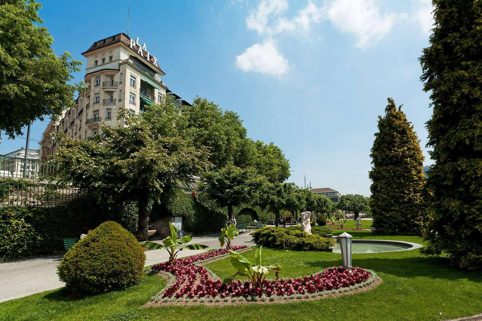 La Terrasse de La Paixà Lausanne à l'Hôtel de la Paix