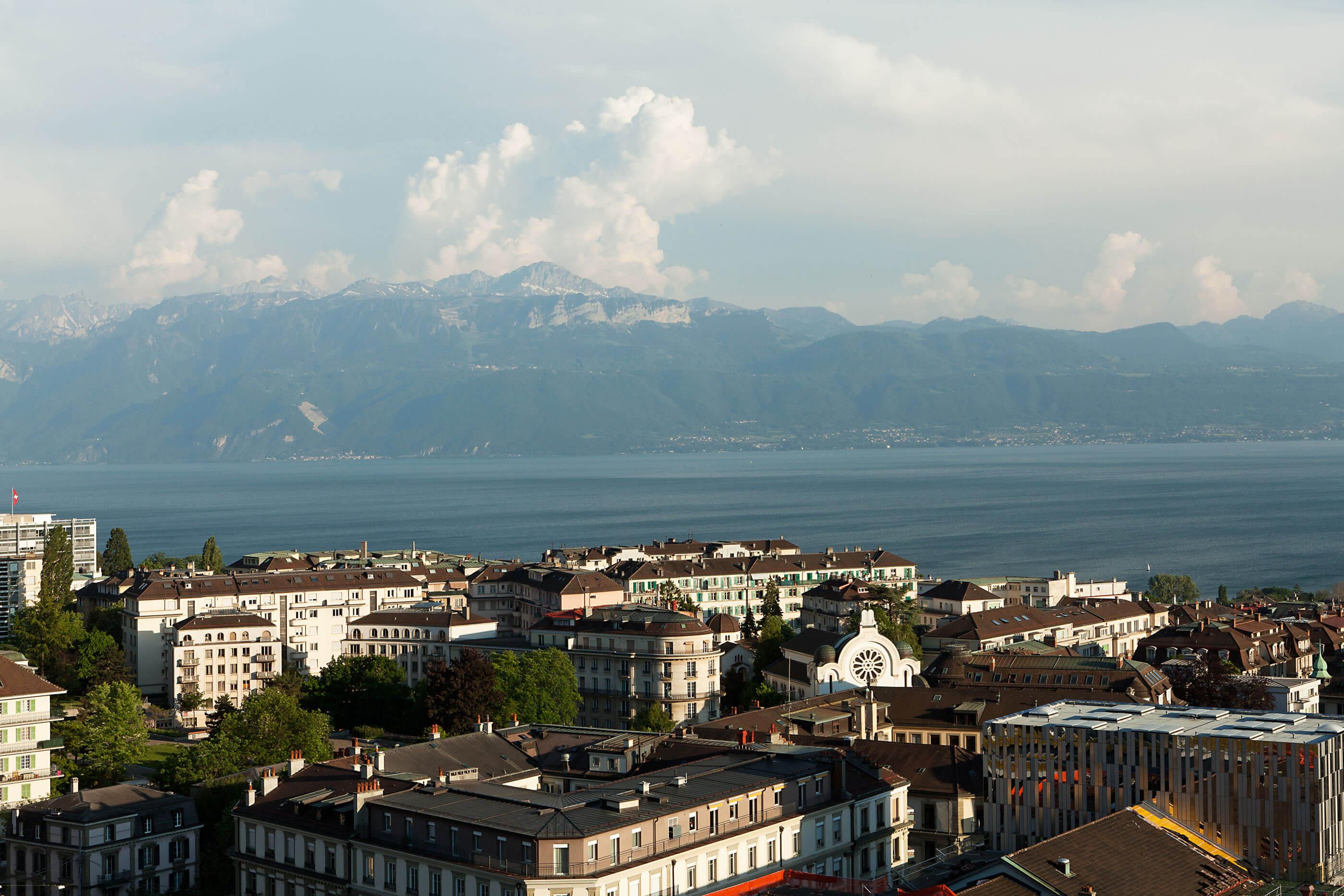 Hotel near Lake Geneva in Lausanne, Hôtel de la Paix